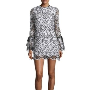 NWT Alexis Rustam Lace Mini Dress Lace Bell Sleeve
